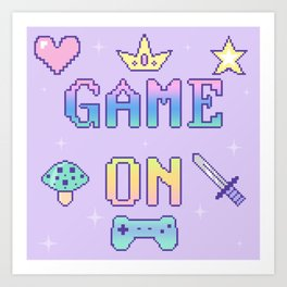 Game On (pastel) Art Print