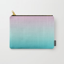 Pastel Ombre Pink Blue Teal Gradient Pattern Carry-All Pouch