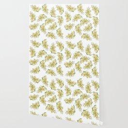 Australian Wattle Flower, Illustration Wallpaper