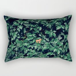 Orange horse in the bush Rectangular Pillow