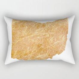 Gold Ohio Rectangular Pillow