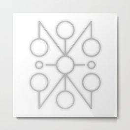 Sigil: JzcaAul (Empathy, telepathy, psychic abilities) Metal Print