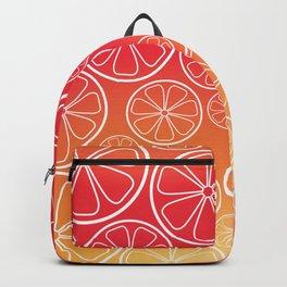 Citrus slices (red/orange) Backpack