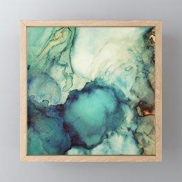 Teal Abstract Framed Mini Art Print
