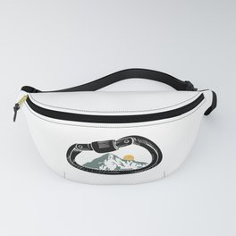 Climb art work for climbing lovers gift Fanny Pack