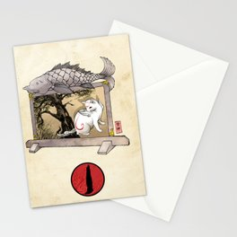 Okami Cat Zodiac Sign Stationery Cards