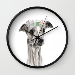 Florence the Whippet Wall Clock