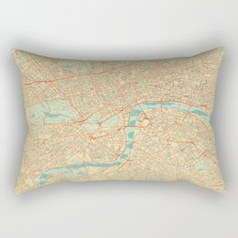 London Map Retro Rectangular Pillow