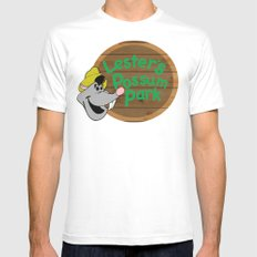 Who's your favorite possum? White MEDIUM Mens Fitted Tee