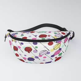 lolly pops - dots - white Fanny Pack