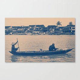 Sailing down the river Canvas Print