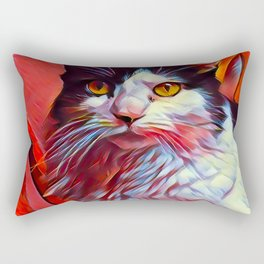 The TUXEDOfrom our FUNK YOUR FELINE line Rectangular Pillow