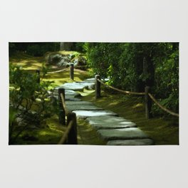Moss gardern path Rug