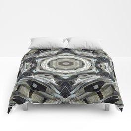 Earth Tones Geometric Abstract Comforters