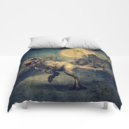 Dinosaurs in the ruins by GEN Z Comforters