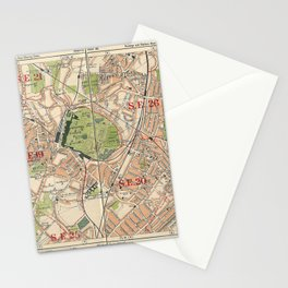 Bacon's Pocket Atlas of London (1921) - 40 Crystal Palace, Upper Sydenham, Upper Norwood, Penge Stationery Cards