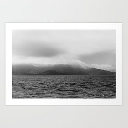 Fog over Sausalito Art Print