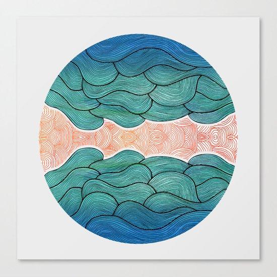 Ocean Flow Canvas Print