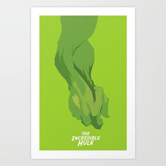 The incredible Hulk Art Print
