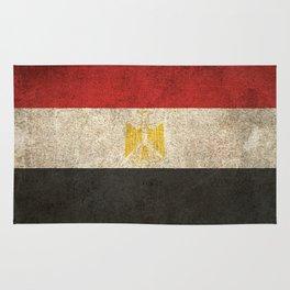 Old and Worn Distressed Vintage Flag of Egypt Rug