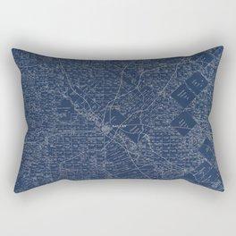 Map Of Dallas 1884 Rectangular Pillow