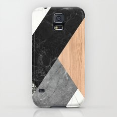 Marble and Wood Abstract Galaxy S5 Slim Case