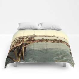 1890 Victorian Jetty in Margate Kent Comforters
