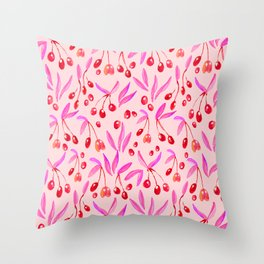 Pop Olives Season Design  // Watercolour Collection // Pattern Throw Pillow