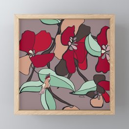 Huge flowers for you Framed Mini Art Print