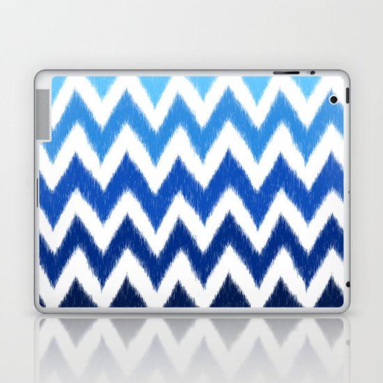 Ombre Ikat Chevron  Laptop & iPad Skin
