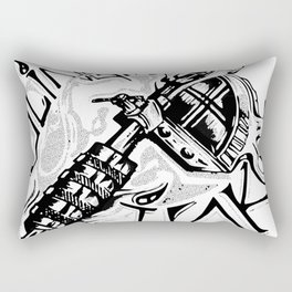 Slinging Ink Rectangular Pillow