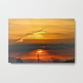 Sunset Horizon Metal Print