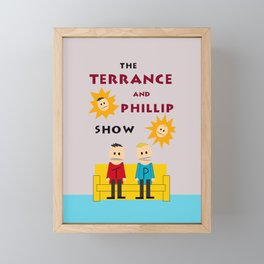 The Terrance and Phillip Show Poster Framed Mini Art Print