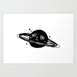 Graphic: sad planet Art Print