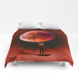 Holding the Blood Moon Comforters