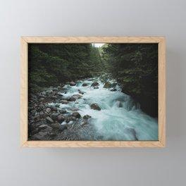Pacific Northwest River II - Nature Photography Framed Mini Art Print