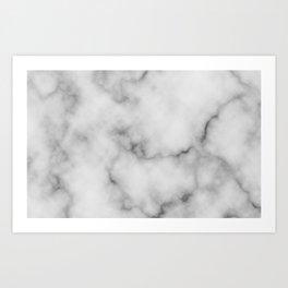 White Marble Pattern Art Print