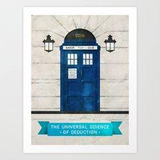 Doctor Who & Sherlock Art Print