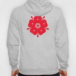Japanese Samurai flower red pattern Hoody
