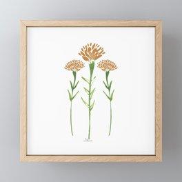 Watercolor Marigolds in White Framed Mini Art Print