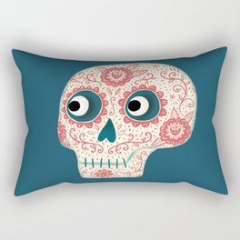 Mexican Dia de los Muertos Day of the Dead Rectangular Pillow