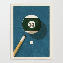 BILLIARDS / Ball 14 Poster