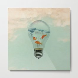 Ideas and Goldfish (RM) Metal Print