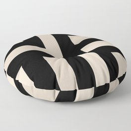 Black and Tan Floor Pillow