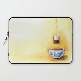 A cup of tea watercolor illustration Laptop Sleeve