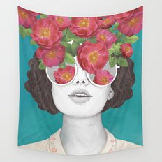 The optimist // rose tinted glasses Wall Tapestry