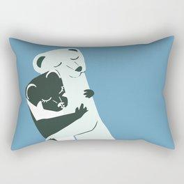 Weasel hugs in blue Rectangular Pillow