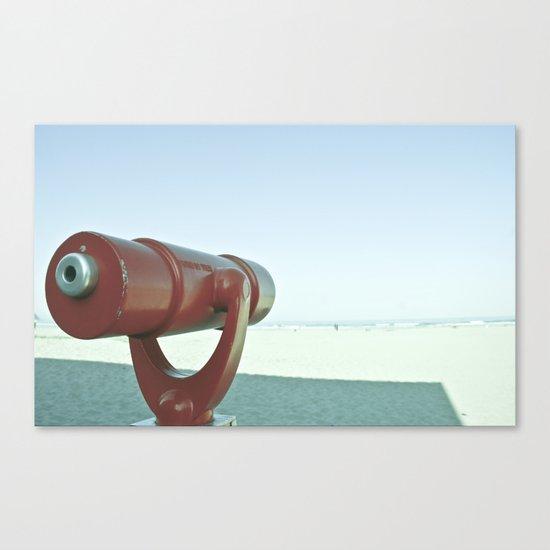 BEACHY SPYGLASS Canvas Print