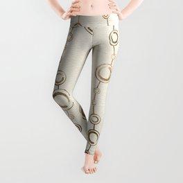 Enso Circle - Zen pattern pastel gold Leggings