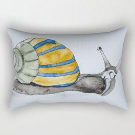 Colorful snail watercolor painting snail shell art Rectangular Pillow